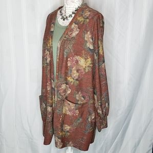 Blouson Essential Cardigan Rust Floral